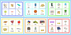 Toy Shop Bingo (Euros and Cents)