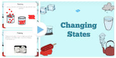 Changing States PowerPoint Text