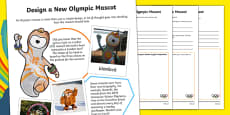The Olympics -  Create a New Mascot Activity Sheet