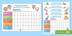 My Reward Chart Pack English/Romanian