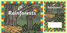 Rainforest Topic Editable Book Cover