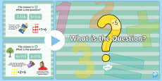 What is the Question? PowerPoint
