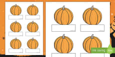 Editable Halloween Pumpkin Self Registration