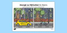 An Stoirm, Aimsigh na Difríochtaí Activity Sheet
