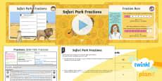 PlanIt Y4 Fractions Problem Solving (2) Lesson Pack Safari Park Fractions