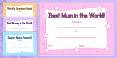 Australia - Mother's Day Certificates