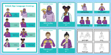 British Sign Language BSL Greetings Display Pack