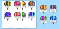 Editable Self Registration Labels (Hot Air Balloons)