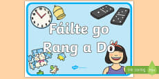 Welcome to Second Class Display Poster Gaeilge