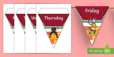 Circus Themed Days of the Week Bunting