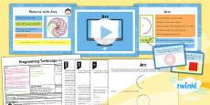 PlanIt - Computing Year 4 - Programming Turtle Logo Lesson 6: Arc Lesson Pack