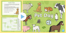 * NEW * Pet Day Interactive Word Search