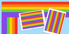 Rainbow Display Borders