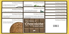 The History of Chocolate Timeline Ordering Activity Cards