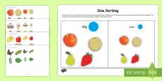 Workstation Pack: Size Sorting Activity Pack