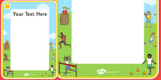 Sports Day Themed Editable Poster