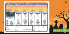 Halloween Expanded Noun Phrases Word Bank