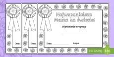 Certyfikaty do kolorowania Dzień Matki