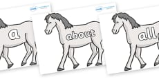 100 High Frequency Words on Horses