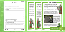 St. Patrick's Day Differentiated Reading Comprehension Activity