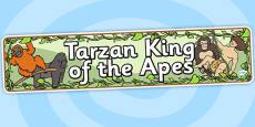 Tarzan King of the Apes Display Banner