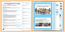EYFS Ourselves All About Me My Family Discovery Sack Plan and Resource Pack