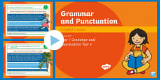 * NEW * Year 1 Grammar and Punctuation Test 4 Guided PowerPoint
