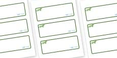 Iguana Themed Editable Drawer-Peg-Name Labels (Blank)