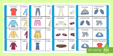 * NEW * Clothes Loop Cards Gaeilge