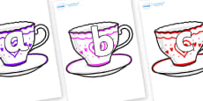 Phoneme Set on Cups and Saucers