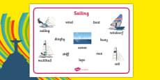 Rio 2016 Olympics Sailing Word Mat