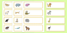Editable Drawer - Peg - Name Labels (African Animals)