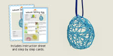 Woven String Egg Craft Instructions
