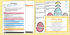 Easter Egg Number Matching EYFS Busy Bag Plan and Resource Pack