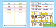 * NEW * Colour Sorting Activity - English/Romanian