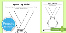 Design a Sports Day Medal Activity Sheet