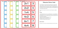 Addition and Subtraction Facts to 20 Partner Cards Game Pack