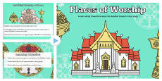 Places of Worship Buddhist Temples KS1 PowerPoint