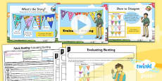 PlanIt - D&T KS1 - Fabric Bunting Lesson 1: Evaluating Bunting Lesson Pack