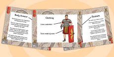 Roman Soldier Uniform Information PowerPoint