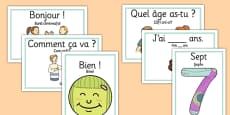 French Translation Year 3 Getting to Know You Display Posters Romanian Translation