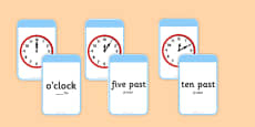 Telling The Time Matching Flashcards Romanian Translation