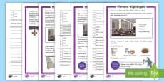 KS1 Florence Nightingale Differentiated Reading Comprehension Activity