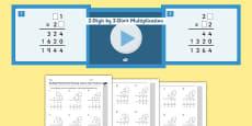 KS2 Reasoning Test Practice Missing Number Calculations 2-Digit by 2-Digit Multiplication Resource Pack