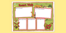 Book Review Writing Frame to Support Teaching on Rosie's Walk