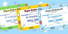 Swimming Certificates Arabic Translation