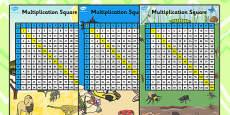 Multiplication Squares 12x12