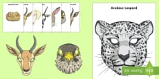 * NEW * Arabian Animals Role Play Masks