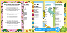 Songs and Rhymes Resource Pack to Support Teaching on Harry and the Bucketful of Dinosaurs