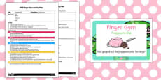 EYFS Frogspawn Dip Finger Gym Activity Plan and Prompt Card Pack